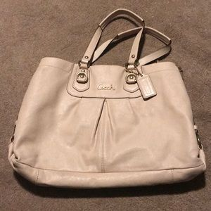 Coach beige handbag